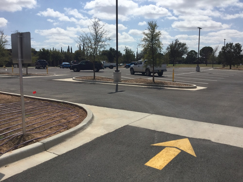 A new parking lot in the northwest corner of the MC main campus.